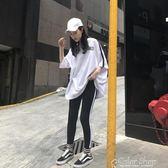 春裝新款韓版顯瘦短袖T恤時尚休閒小腳運動套裝女學生 兩件套color shop