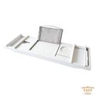 浴缸架 竹製可伸縮浴缸架歐式多功能平板手機支架泡澡桶浴缸宮廷風置物架T