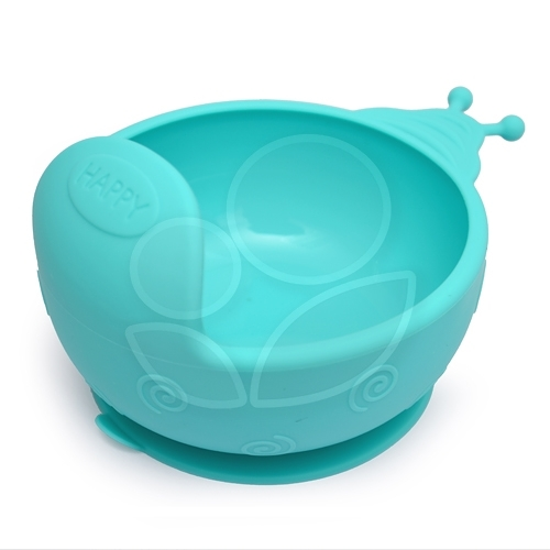 Expect 蝸牛矽膠吸盤碗 - 藍色【佳兒園婦幼館】