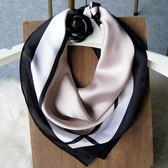 小方巾絲巾女絲綢職業白領巾
