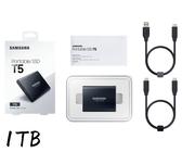【限時至0119 】 三星 Samsung T5 1TB 外接SSD硬碟 黑色 (MU-PA1T0B) 三年保固