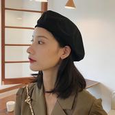 帽子 貝雷帽女薄款黑色ins八角帽子網紅秋冬韓版日系英倫複古畫家帽潮
