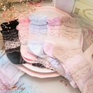 襪子 透膚刺繡蕾絲短襪-Ruby s 露...
