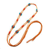 【雙11】女波西米亞繩編織細腰帶裝飾民族風連身裙子打結流蘇腰錬腰繩子折300