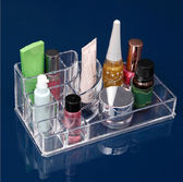 多格帶抽屜韓國炫彩透明水晶化妝品收納盒 首飾整理盒《小師妹》jk100