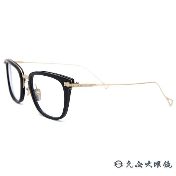 DITA 頂級眼鏡品牌 STATESIDE (黑-金) 純鈦 方框 近視眼鏡 久必大眼鏡