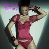 Chasney Beauty-水晶蕾絲B馬甲/附袖套(紅)