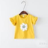 短袖6個月兒童幼兒棉短袖1歲女寶寶夏季裝t恤2單上衣小兒童打底衫3潮4