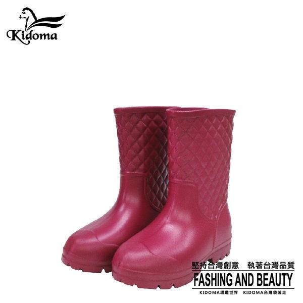 鈴木牌超輕量中筒女雨鞋-紅色 雨靴 膠鞋 工作鞋 防水 防滑 舒適