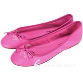 anna baiguera Annette 圓牌LOGO綴飾牛皮芭蕾舞鞋(桃紅色) 1420457-41