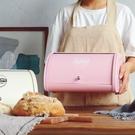 歐式加厚鍍鋅鐵翻蓋烘焙面包箱 桌面鐵皮整理收納盒     SQ11311【滿千折8.9】『寶貝兒童裝』TW