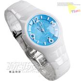 RELAX TIME RT-26-32 白陶瓷錶 馬卡龍色調 糖果天藍 普普點點 錐型切割藍寶石水晶 37mm 女錶