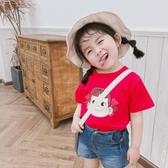 女童短袖T恤夏裝新款嬰兒童洋氣半袖小男寶寶韓版純棉上衣潮 米希美衣