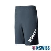 K-SWISS Slope KS Logo Shorts運動短褲-男-灰