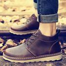工裝鞋英倫馬丁靴男靴子男士高筒鞋男鞋棉鞋工裝短靴加絨保暖雪地靴冬季店長推薦好康八折