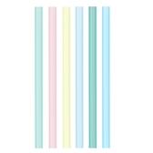矽膠吸管 (6入) 環保矽膠吸管 果凍吸管 馬卡龍色 吸管 RA00301