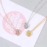 項鍊 925純銀墜子-鈕扣造型生日情人節禮物女飾品3色73gx28【時尚巴黎】