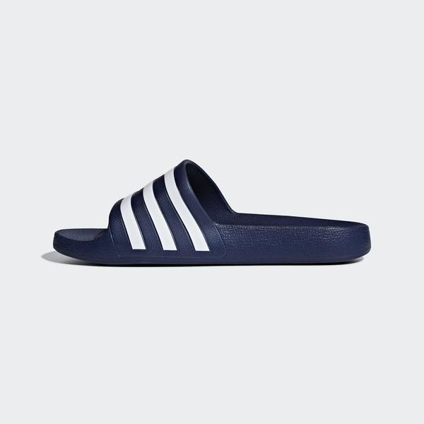 ADIDAS Adilite Aqua 深藍 白Logo 防水 海灘 拖鞋 男女(布魯克林) 2019/2月 F35542