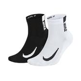 NIKE 男女運動短襪(二雙入 襪子 慢跑 路跑 吸濕排汗≡體院≡ SX7556