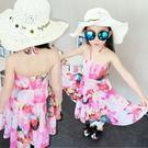 *╮小衣衫S13╭*粉彩花卉細帶沙灘裙 ...