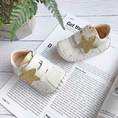 Swan天鵝童鞋-Star星星格紋學步寶寶鞋1605-米
