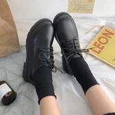 黑色漆皮小皮鞋女英倫風2020秋季新款平底系帶牛津日系制服jk單鞋 【雙十一】