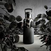 HYDY 時尚保溫水瓶 油墨黑-黑花瓶 480ml