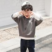 兒童秋裝韓版洋氣中大童裝男童t恤長袖純棉秋上衣打底衫男孩潮晴天時尚