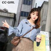 中大尺碼 甜美荷葉領喇叭袖上衣 - 適XL~4L《 67067L 》CC-GIRL