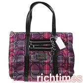 COACH紫紅亮片背帶方肩包CC0A8530