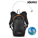 【SOURCE】戶外健行水袋背包 FUSE 2054129008 (8L/水袋2L) / 城市綠洲 (戶外、登山、單車、補水、抗菌)