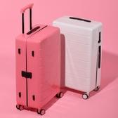 新潮拉桿箱萬向輪24寸鋁框皮箱旅行箱男女行李箱26寸復古登機箱包