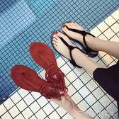 夾趾拖鞋 涼鞋女夏軟底2018新款女涼鞋軟妹學生人字拖百搭外穿涼拖沙灘鞋女 克萊爾