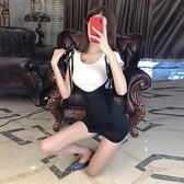 女裝套裝夏季網紅百搭T恤上衣高腰緊身性感包臀綁帶半身裙兩件套