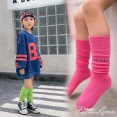 女童高筒襪兒童中筒襪寶寶堆堆襪半截襪子純棉春秋薄款韓版潮彩色 范思蓮恩