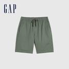 Gap男裝 簡約風格純色鬆緊短褲 841941-綠色