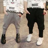 男童褲子春款2019新品休閒哈倫褲1韓國3-5歲寶寶黑色寬鬆薄款長褲 【快速出貨】