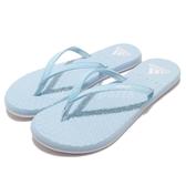 adidas 拖鞋 Eezay Flip Flop 藍 水藍 白 人字拖 夾腳拖 舒適鞋墊 女鞋【PUMP306】 CG3362