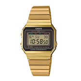 CASIO 卡西歐 手錶專賣店 A700WG-9A 經典時尚復古電子錶 不鏽鋼錶帶 琥珀金 生活防水 A700W