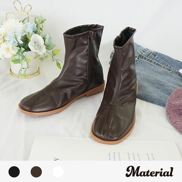 短靴 簡約壓線方頭短靴 MA女鞋 T5196