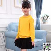女童毛衣新款兒童加厚線衣秋冬裝寶寶打底衫保暖外套頭針織衫 全館88折