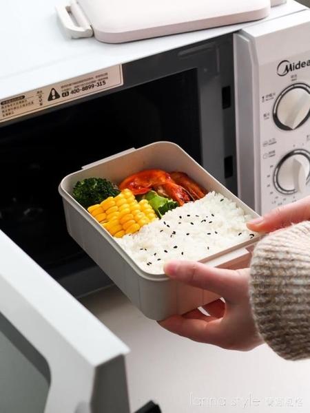 日式飯盒上班族便當便攜1人學生餐盒微波爐加熱沙拉水果盒 LannaS