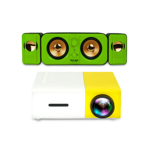【Dr.Mango】S5超微型遙控大螢幕投影機+3.0音箱