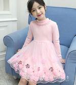 女童連身裙兒童洋裝公主裙加絨過年裙子【聚寶屋】