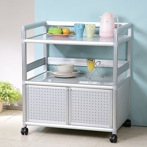 Homelike 鋁合金2.5尺二門收納櫃