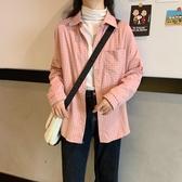 顯瘦開衫格子襯衫女學生2020新款寬松韓版百搭長袖襯衣學院風上衣 居享優品