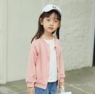 女童外套 女童棒球服春裝衛衣抓絨外套薄款洋氣韓版中小兒童寶寶夾克【快速出貨八折鉅惠】