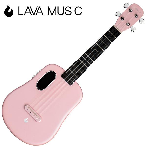 LAVA U 拿火烏克麗麗-23吋/L2 mini /Free Boost/碳纖維材質/插電加震款/粉色