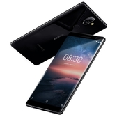 【Nokia 8 Sirocco】 5.5吋( 6GB  / 128GB) 八核智慧型手機支援 IP67 防水防塵等級/指紋辨識/ 無線充電