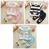 嬰兒短袖套裝 短袖上衣+七分褲 寶寶童裝 CK0458 好娃娃